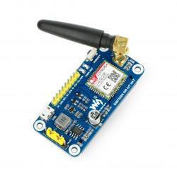 Waveshare NB-IoT HAT - GPS/GSM SIM7020E - nakładka dla Raspberry Pi 4B/3B+/3B/2B/Zero