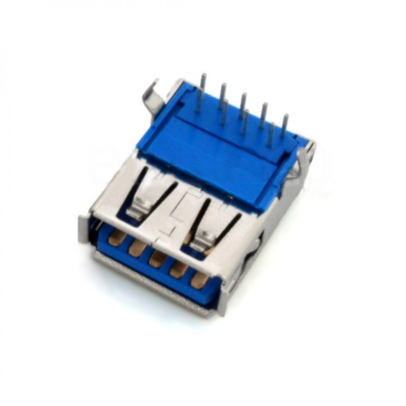 Gniazdo USB 3.0 typ A - do druku THT