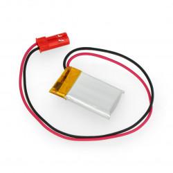 Akyga Li-Pol cell 85mAh 1S 3,7V connector+2,54 JSTsocket - 2pins