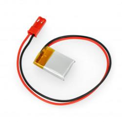 Akumulator Li-Pol Akyga 3,7V 1S 70mAh konektor+gniazdo 2,54 JST - 2 piny
