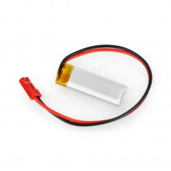 Akyga Li-Pol cell 120mAh 1S 3,7V connector+2,54 JSTsocket - 2pins
