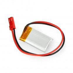 Akumulator Li-Pol Akyga 3,7V 1S 175mAh konektor+gniazdo 2,54 JST - 2 piny