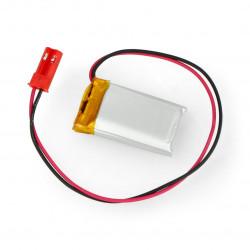 Akumulator Li-Pol Akyga 3,7V 1S 250mAh konektor+gniazdo 2,54 JST - 2 piny