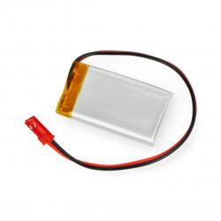 Akumulator Li-Pol Akyga 3,7V 1S 270mAh konektor+gniazdo 2,54 JST - 2 piny