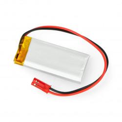 Akyga Li-Pol cell 450mAh 1S 3,7V connector+2,54 JSTsocket - 2pins