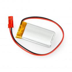 Akyga Li-Pol cell 620mAh 1S 3,7V connector+2,54 JSTsocket - 2pins