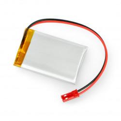 Akumulator Li-Pol Akyga 3,7V 1S 750mAh konektor+gniazdo 2,54 JST - 2 piny - (50x34x4,4mm)