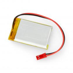 Akyga Li-Pol cell 1000mAh 1S 3,7V connector+2,54 JSTsocket - 2 pins - (48x30x7mm)