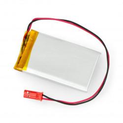 Akumulator Li-Pol Akyga 3,7V 1S 1100mAh konektor+gniazdo 2,54 JST - 2 piny - (55x38x5mm)