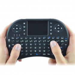 Klawiatura bezprzewodowa + touchpad Mini Key - czarna