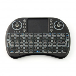 Klawiatura bezprzewodowa + touchpad Mini Key - czarna z podświetlaniem