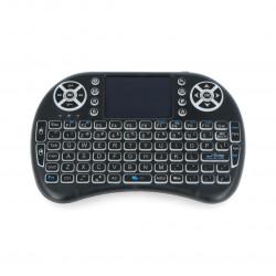 Mini klawiatura bezprzewodowa RGB K800I + touchpad Mini Key - czarna