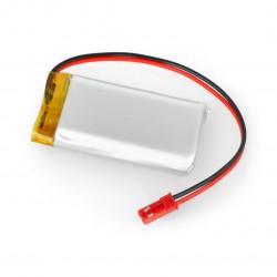 Akumulator Li-Pol Akyga 3,7V 1S 1700mAh konektor+gniazdo 2,54 JST - 2 piny