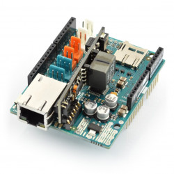 Arduino Ethernet Shield 2 with memory card reader microSD + PoE