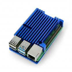Obudowa do Raspberry Pi 4B - aluminiowa - niebieska