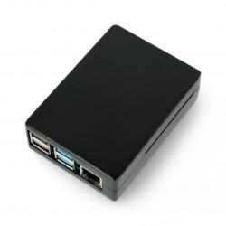 Obudowa Raspberry Pi model 4B - aluminiowa - LT-4BA04 - czarna