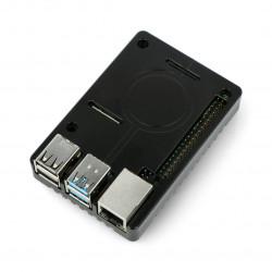 Obudowa Raspberry Pi model 4B - aluminiowa - LT-4BA05 - czarna