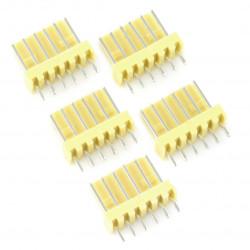 2,54 mm - plug 6-pin - 5 pcs