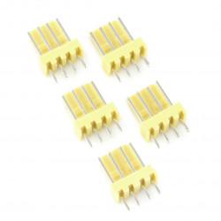 2,54 mm - plug 4-pin - 5 pcs