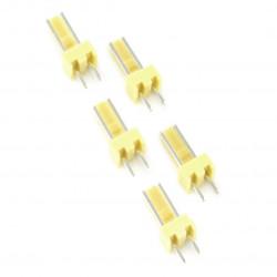 2,54 mm - plug 2-pin - 5 pcs