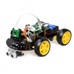 Robot Car Kit - 4-kołowa platforma do budowy robota z czujnikami i napędem DC oraz kamerą dla Raspberry Pi