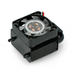 Black Warrior ICE Tower CPU Cooling Fan - Wentylator z radiatorem dla Raspberry Pi 4B/3B+/3B - czarny
