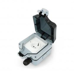 Coolseer - inteligentne wodoodporne gniazdo natynkowe WiFi - COL-WWS02WE
