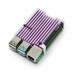 Obudowa do Raspberry Pi 4B - aluminiowa - fiotetowa