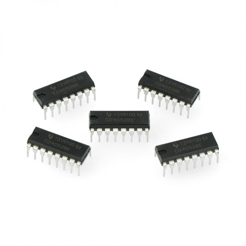 Analog multiplexer / demultiplexer 4052 - THT - 5pcs_