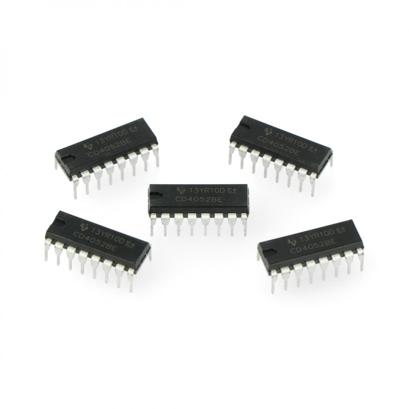 Analogowy multiplekser/demultiplekser 4052 - THT - 5szt.
