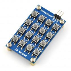 Klawiatura - matryca 4x4 tact switch - wyjście analogowe