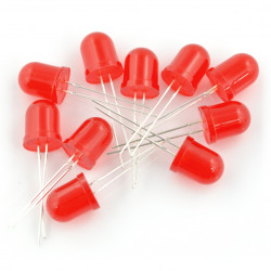 LED 10mm red - 10pcs_