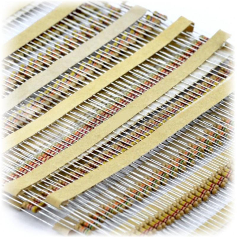 Zestaw rezystorów CF THT 1/4W opisany - 1000szt.