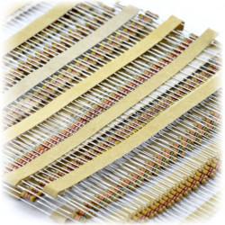 Zestaw rezystorów THT 1/4W opisany - 640 szt.