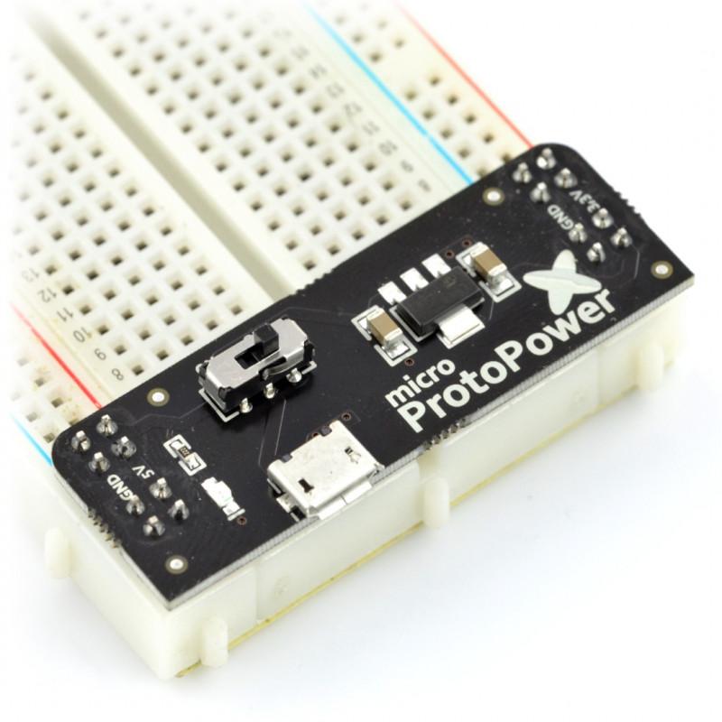 Power module for micro ProtoPower breadboard - 3.3V 5V_