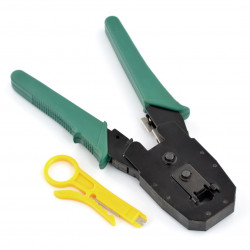 Crimping tool for RJ45, RJ12, RJ11, RJ9 + stripper
