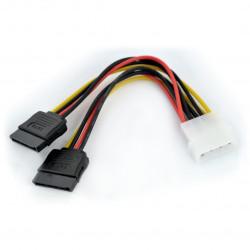 Kabel zasilający Molex - 2x SATA - 15cm