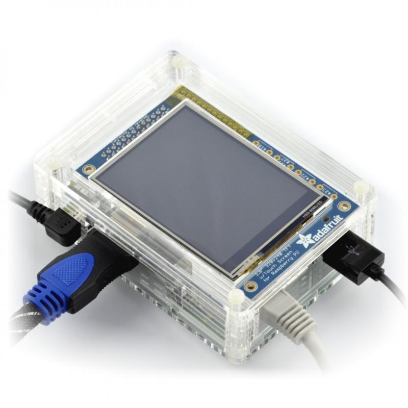 Obudowa do Raspberry Pi 3/2 i ekranu PiTFT - przezroczysta