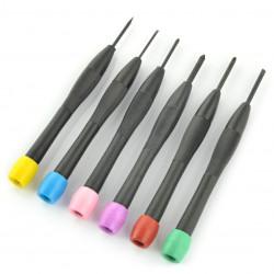 Zestaw 6 śrubokrętów mieszanych mini