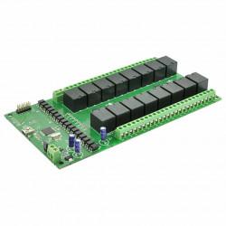 Numato Lab - 16-channel relay module 24V 7A / 240VAC + 10 GPIO - USB