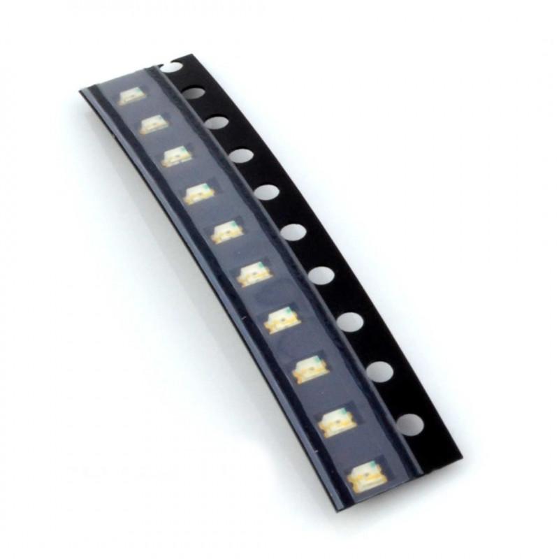 LED SMD0805 yellow - 10pcs_