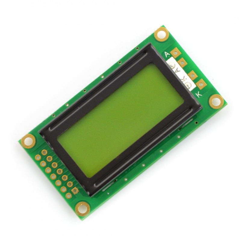 LCD display 2x8 characters green_
