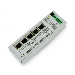 4F1G Switch 4 porty 10/100Mb PoE + 1 port 1Gb