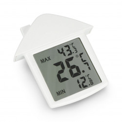 Przezroczysty termometr okienny Velleman