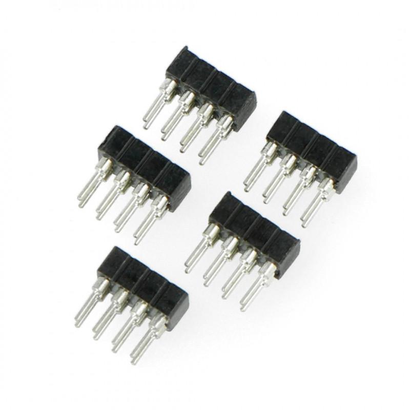 Female socket 2x4, 2mm - 5pcs*