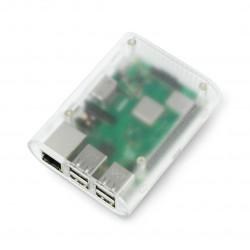 Obudowa Raspberry Pi Model 2/B+ przezroczysta matowa