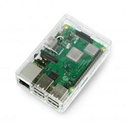 Obudowa Raspberry Pi Model 3B+/3B/2B - przezroczysta