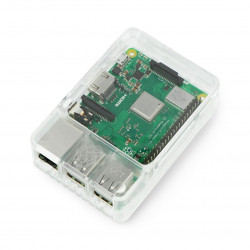 Obudowa Raspberry Pi Model 3B+/3B/2B Style Enclosure - przezroczysta