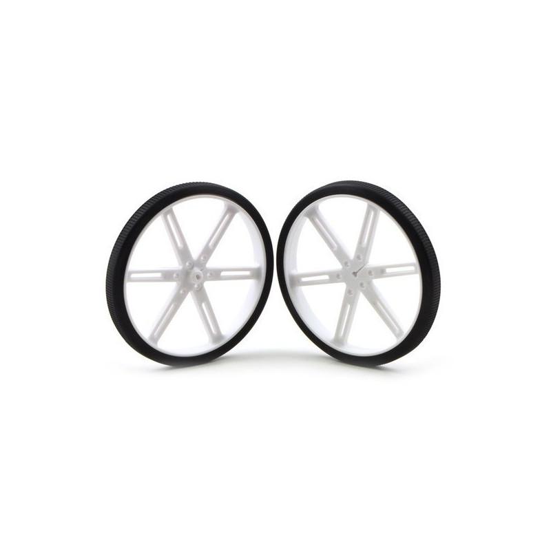 Pololu 80x10mm Wheels - white