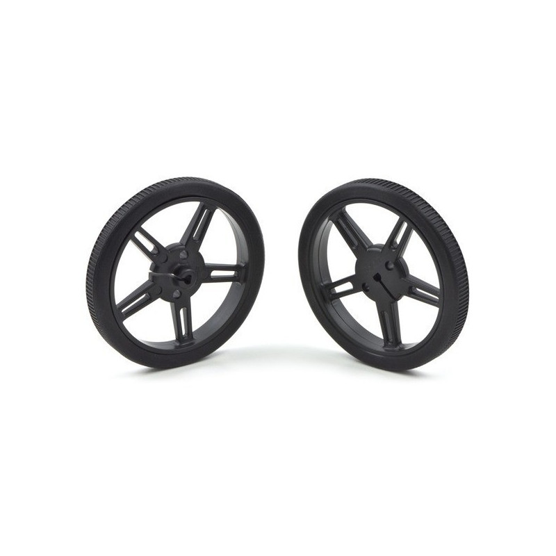 90x10mm Wheels - black - Pololu 1435*